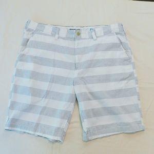 Men's Sonoma grey white striped shorts, size 40